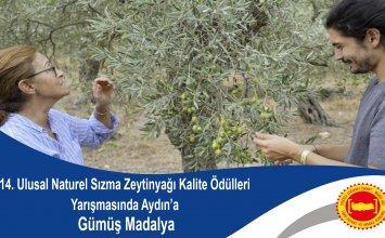 14. Ulusal Naturel Sızma Zeytinyağı Kalite Ödülleri Yarışmasında Aydın'a Gümüş Madalya