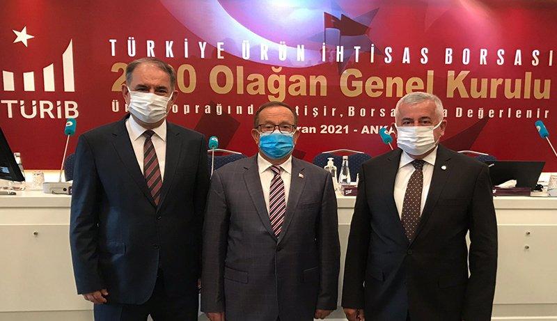 02.06.2021 Aydın Ticaret Borsası, Türkiye Ürün İhtisas Borsası A.Ş. (TÜRİB) Olağan Genel Kurulu Toplantısı'na Katıldı