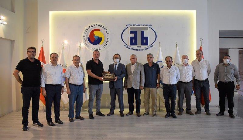 August 18, 2021- Visiting from Chairman of Aydın Tax Office Serdar Şahin to Aydın Commodity Exchange