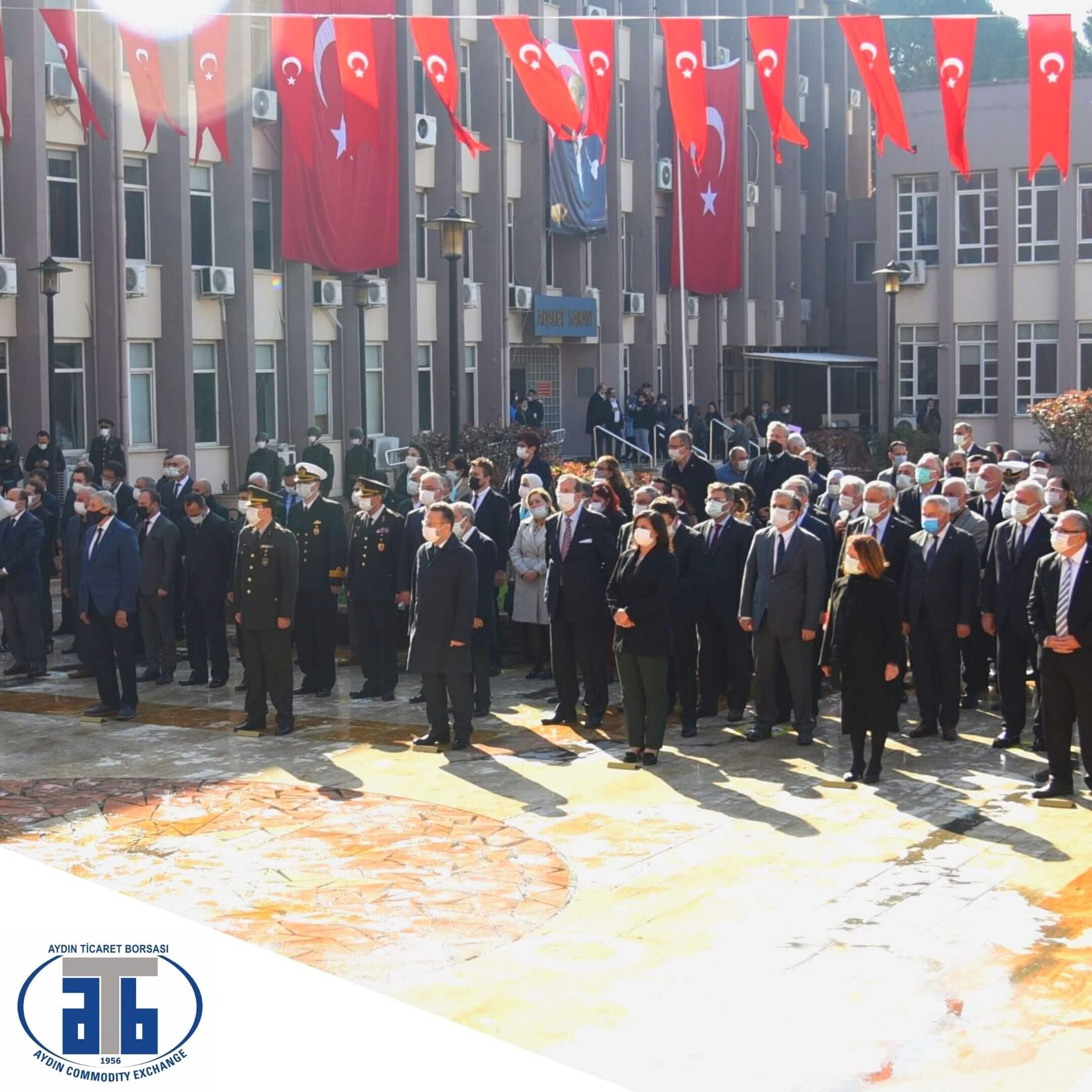 18.03.2021 Aydın Ticaret Borsası Meclis Başkanı A.Bahri Erdel, 18 Mart Şehitler Günü ve Çanakkale Zaferi'nin 106. Yıl dönümü Dolayısıyla Düzenlenen Anma Programı'na Katıldı