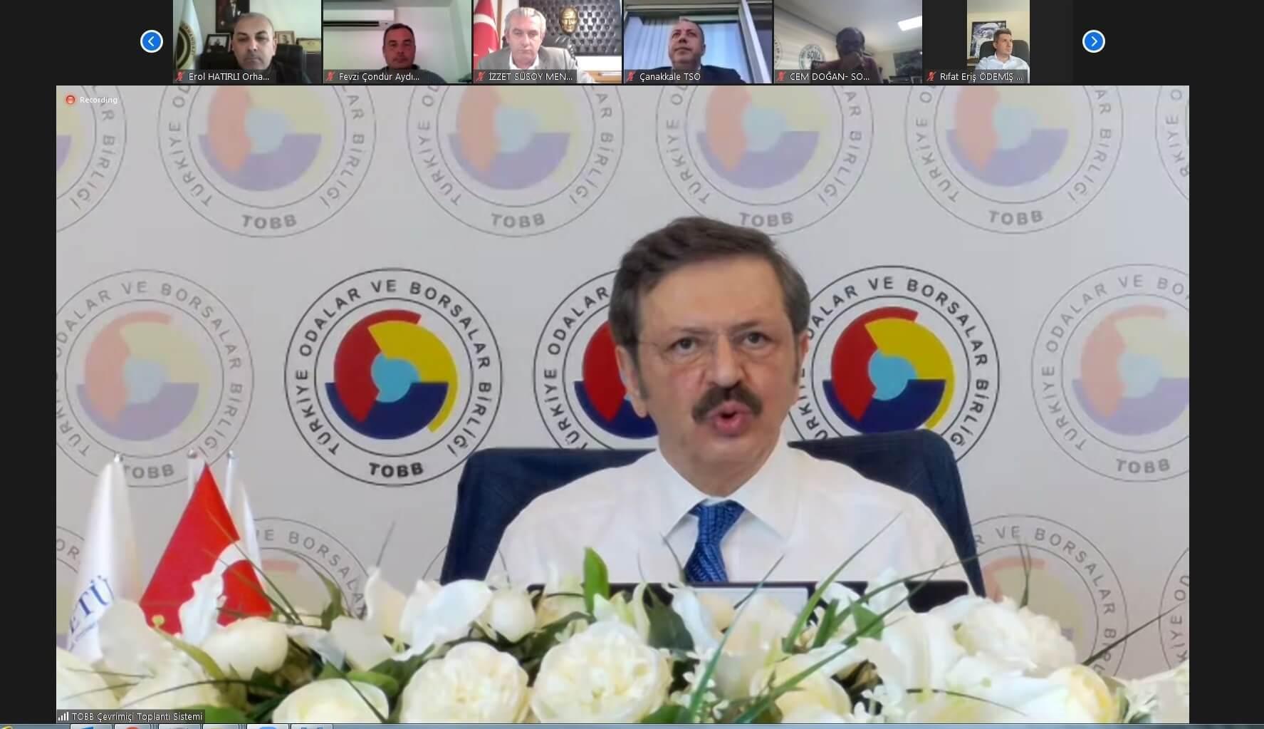 30.04.2021Aydın Ticaret Borsası Yönetim Kurulu Başkanı Fevzi Çondur,  TOBB Ege ve Marmara Bölge Toplantısı'na Katıldı