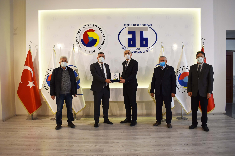 03.02.2021 Aydın Sanayi ve Teknoloji İl Müdürü Ahmet Bayramer, Aydın Ticaret Borsası'na Nezaket Ziyaretinde Bulundu