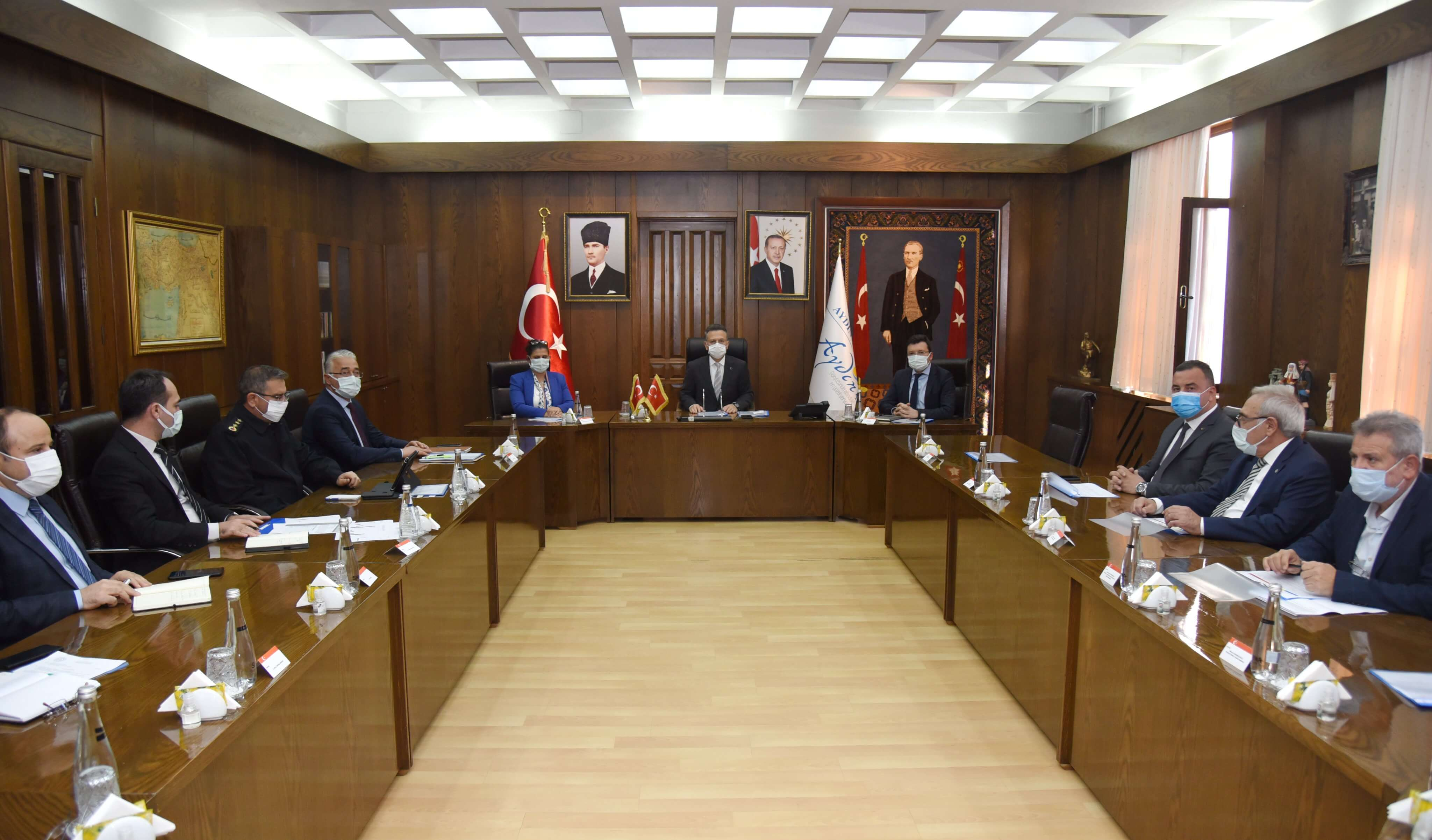 03.03.2021Aydın Ticaret Borsası Yönetim Kurulu Başkanı Fevzi Çondur,  Aydın'da Normalleşme Toplantısına Katıldı