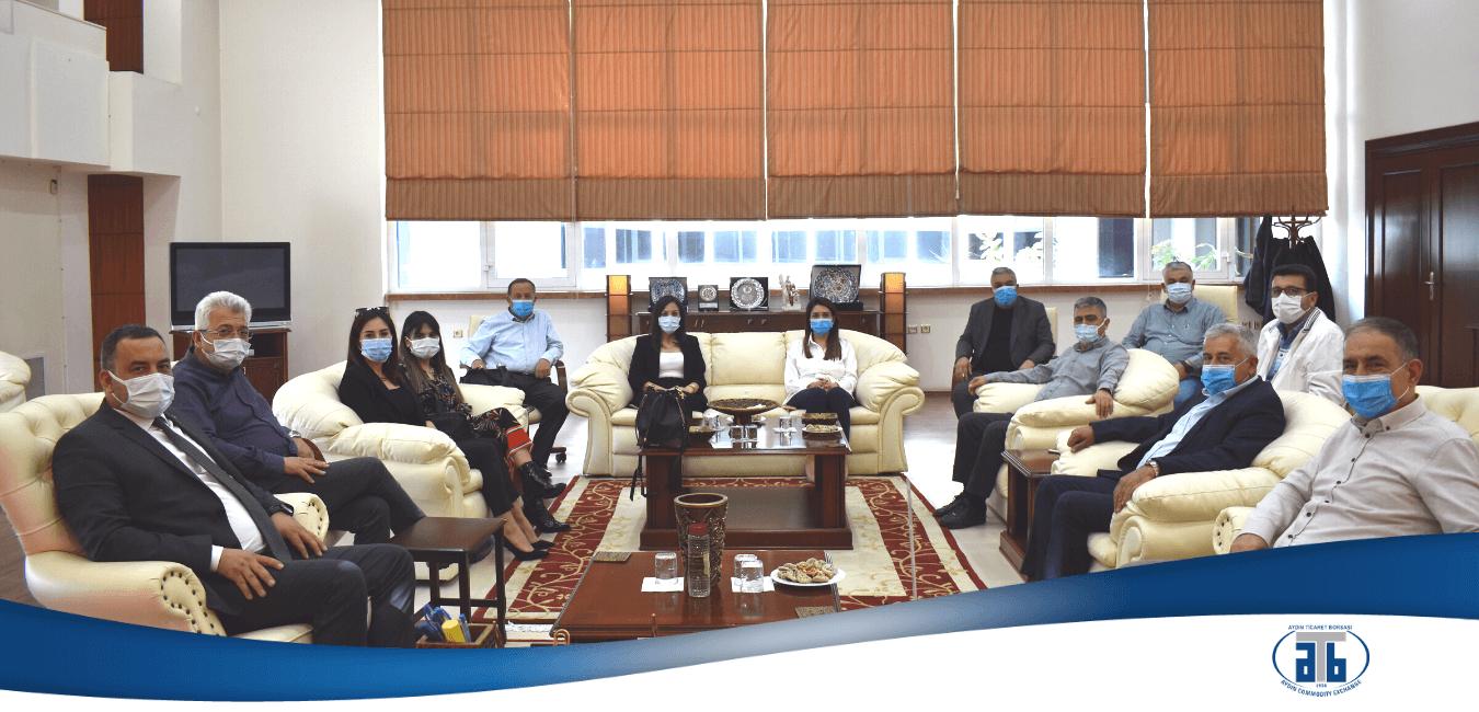 07.04.2021 Aydın Ticaret Borsası,  Aydın Girişimci Kadınlar Derneği'ni Ağırladı